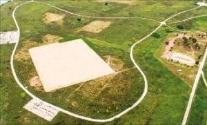 경남 지역 첫 드론 전용 연습장이 들어설 김해시 생림면 마사리 딴섬생태누리공원.  김해시 제공