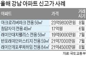 '상한제 역설'…강남 아파트 3.3㎡당 '1억 시대'