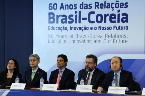 """브라질 외교장관 """"한국은 브라질에 영원한 영감을 주는 나라"""""""