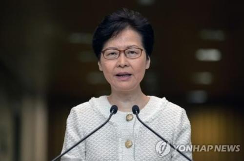 """캐리 람 홍콩 행정장관 """"美 '홍콩 인권법안' 추진은 내정간섭"""""""