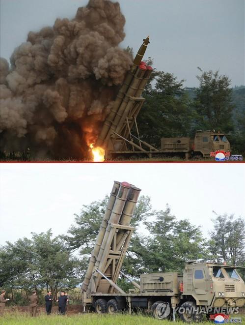 北, '초대형 방사포' 시험사격…2발 쐈나, 3발 쐈나?