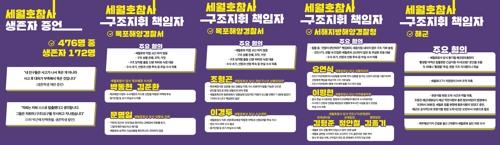 세월호 단체, '참사 구조지휘 책임' 해경 관계자 명단 발표