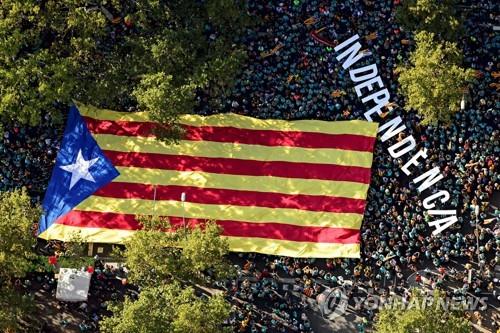 """스페인, 카탈루냐 독립주의자 9명 체포…""""테러 기도"""""""