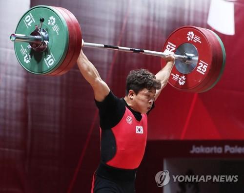 원정식, 세계역도선수권 8위 부진…북한 오강철은 2위
