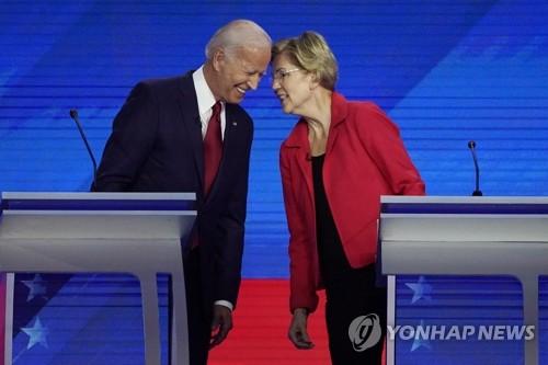 """美민주 대선레이스 양강체제로?…""""바이든 31%, 워런 25%"""""""
