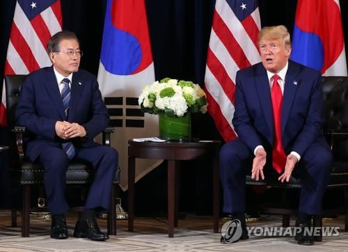 트럼프, 한미정상회담서 17차례 질문 독점…또 '외교결례' 논란