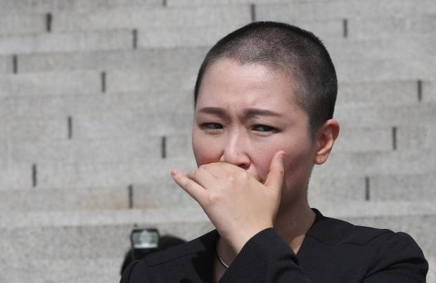 삭발한 이언주 의원 /사진=연합뉴스