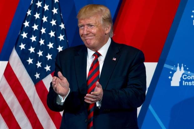 도널드 트럼프 미국 대통령. AP