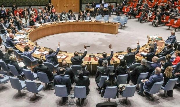 유엔 안전보장이사회(안보리) 회의 모습. 사진=AP