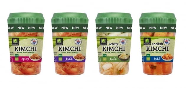 미국 1만개 매장에서 판매되고 있는 풀무원 김치 4종. (사진 = 풀무원)