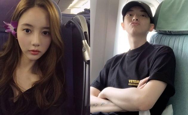 한서희, '얼짱시대' 정다은 열애설 부인 /사진=한서희, 정다은 SNS