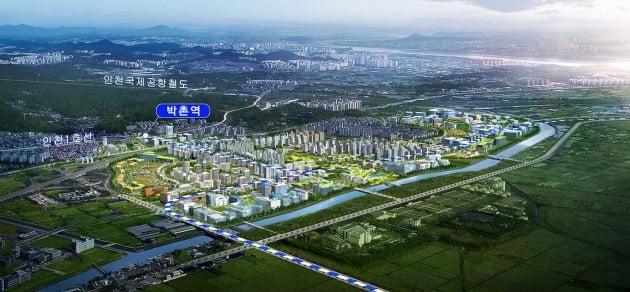 국토부가 공개한 인천 계양신도시 조감도. 국토부 제공