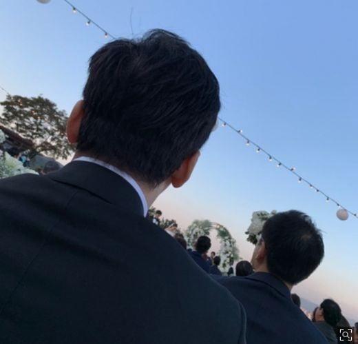 권다미 김민준 결혼식에 참석한 양현석/사진=양현석 인스타그램