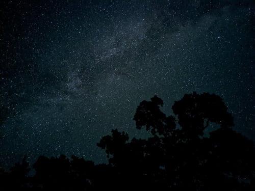 픽셀4로 찍은 밤하늘 은하수 사진. /구글