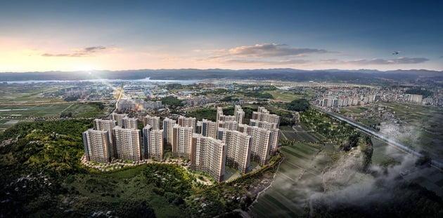 KCC건설, 1700가구 대단지 '사천 KCC 스위첸' 분양