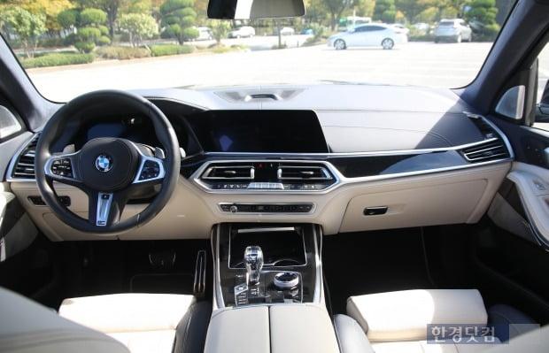 BMW 플래그십 SUV X7 실내 모습. 사진=오세성 한경닷컴 기자