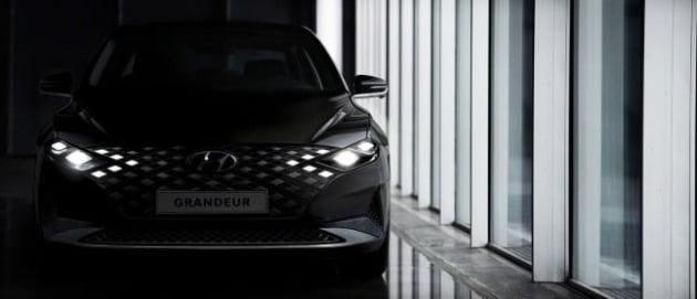 현대자동차 플래그십 세단 그랜저가 다음달 부분 변경 모델 출시를 앞두고 티저 이미지를 공개했다. 더 뉴 그랜저 외장 티저 이미지 [사진=현대자동차]