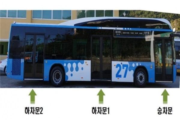 부산시에서 28일부터 운행에 들어가는 출입문이 3개 달린 저상버스 / 사진 = 부산시 제공