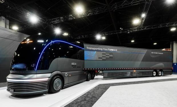 현대차가 수소전기 대형트럭 콘셉트카 넵튠을 공개했다. 사진=현대자동차