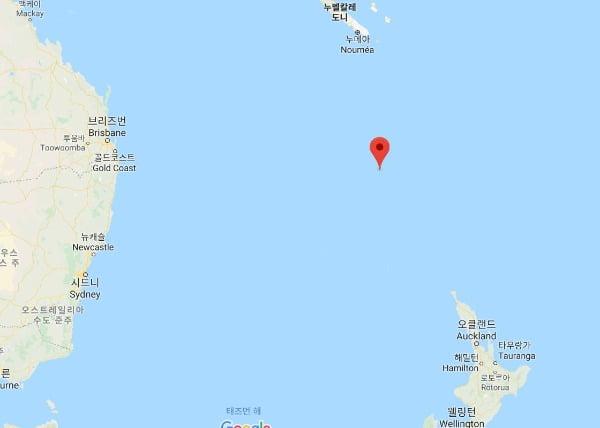 남태평양 노퍽섬 주민들이 뉴질랜드에 편입되기를 희망하는 것으로 조사됐다. 사진은 노퍽섬의 위치. /사진=구글 지도 캡처