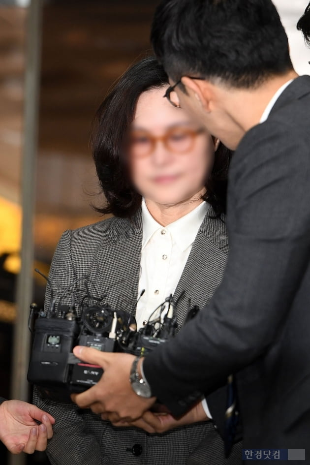 18명 변호인단의 위력? 정경심 영장실질심사 출석 포토라인 일제히 모자이크