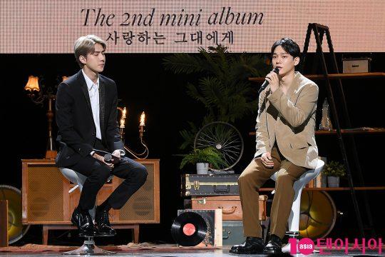 엑소의 세훈(왼쪽), 첸./ 이승현 기자 lsh87@