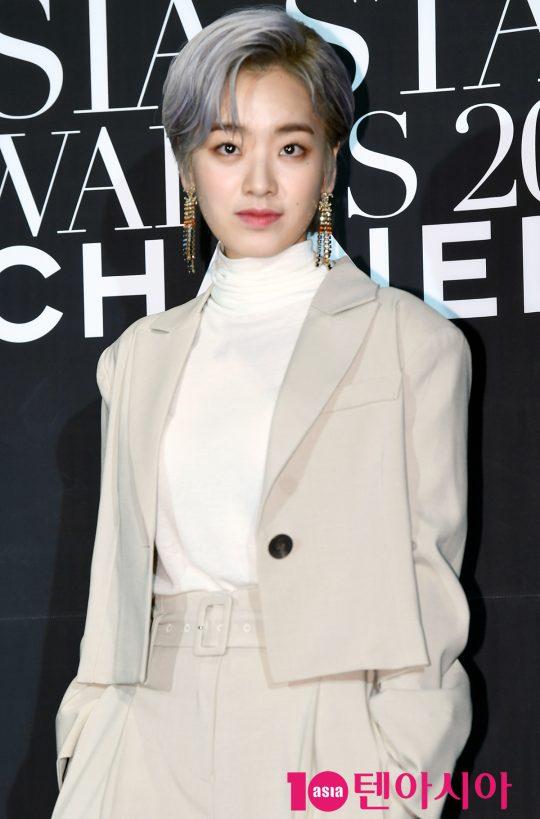 배우 이주영이 5일 오후 부산 해운대구 파라다이스호텔 부산에서 열린 '제 7회 아시아 스타 어워즈' 행사에 참석하고 있다.