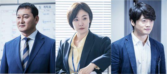 JTBC 새 월화드라마 '보좌관: 세상을 움직이는 사람들 시즌2'에 출연하는 배우 정만식(왼쪽부터), 박효주, 조복래. /사진제공=스튜디오앤뉴