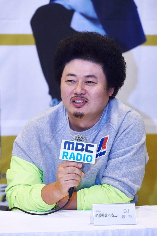 윤택이 8일 오전 서울 상암동 MBC 사옥에서 열린 라디오 가을개편 기자간담회에서 이야기를 하고 있다./사진제공=MBC