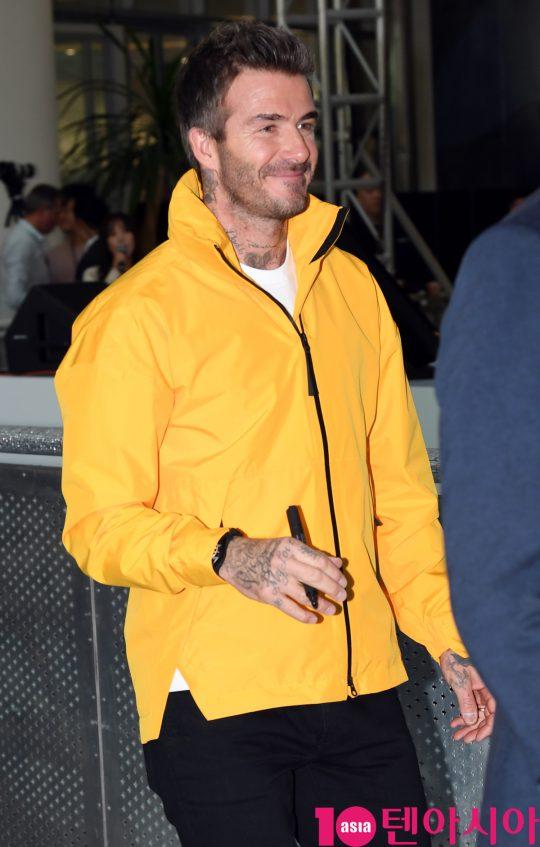 영국 전 축구스타 데이비드 베컴(David Beckham)이 9일 오전 서울 영등포동 타임스퀘어에서 열린 '아디다스 70주년 기념' 행사에 참석했다.