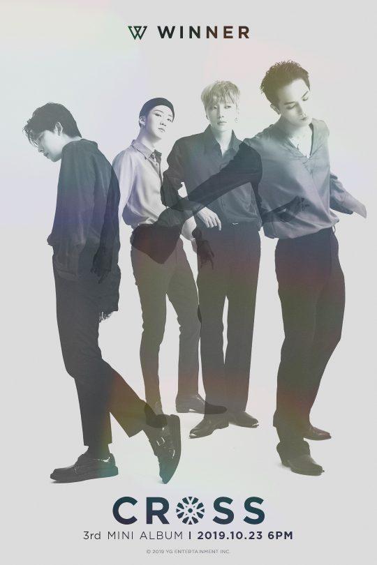 그룹 위너의 세 번째 미니앨범 'CROSS' 메인 포스터. /사진제공=YG엔터테인먼트