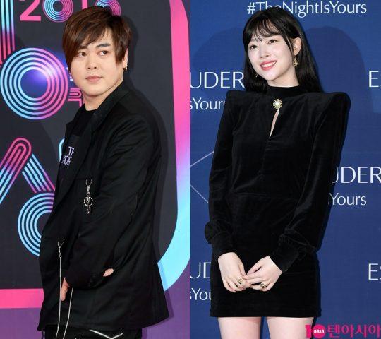 가수 문희준(왼쪽)과 가수 겸 배우 설리 / 사진=텐아시아DB