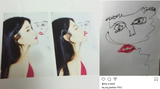 사진=아이유와 설리의 인스타그램 캡처.