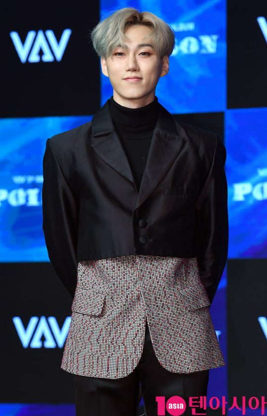 그룹 VAV(에이노, 에이스, 바론, 로우, 지우, 제이콥, 세인트반) 바론이 21일 오후 서울 강남구 청담동 일지아트홀에서 열린 5th 미니앨범 '포이즌(POISON)' 쇼케이스에 참석하고 있다.
