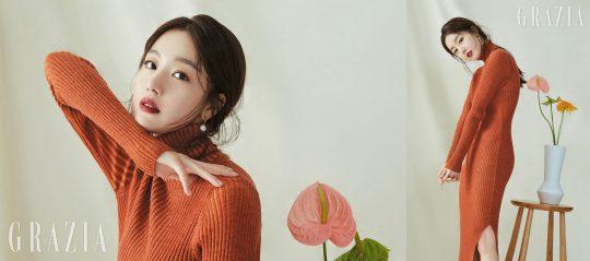 가수 겸 배우 한선화의 매거진 '그라치아' 11월호 화보. /사진제공=그라치아