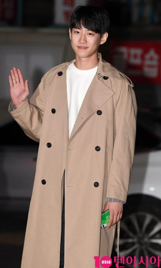 배우 한기영이 22일 오후 서울 여의도 한 음식점에서 열린 MBC 주말드라마 '황금정원' 종방연에 참석하고 있다.