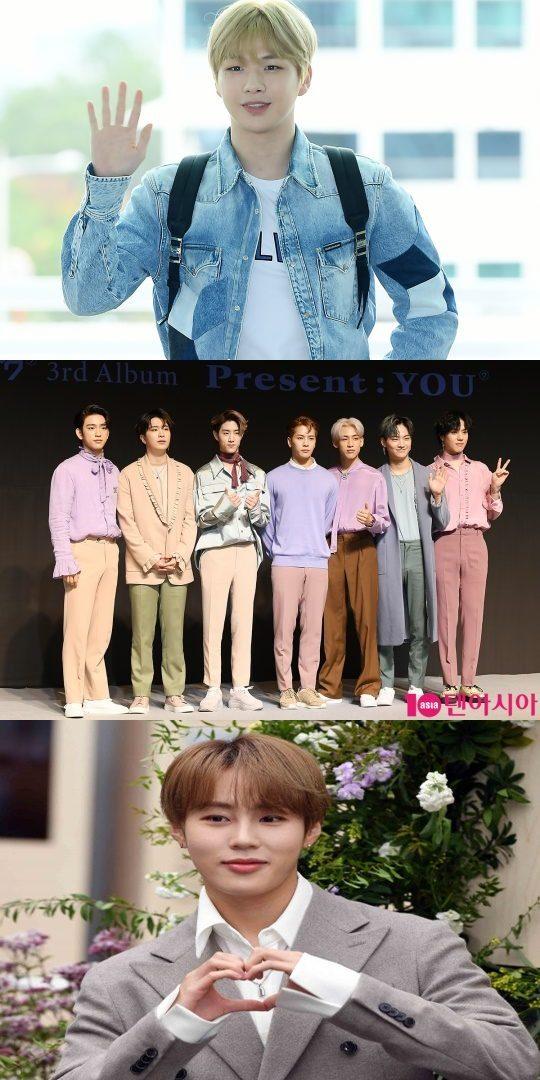 가수 강다니엘(맨 위부터), 그룹 갓세븐과 하성운. /사진= 텐아시아DB