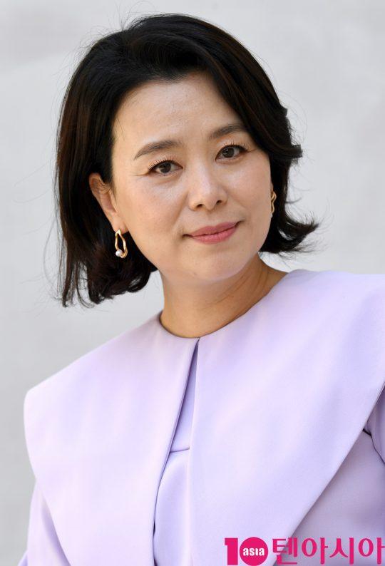 영화 '니나 내나'에서 3남매의 장녀 미정 역으로 열연한 배우 장혜진. /조준원 기자 wizard333@