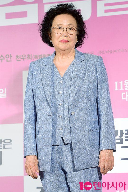영화 '감쪽 같은 그녀'에서 일흔두 살 꽃청춘 말순 역을 연기한 나문희. /서예진 기자 yejin@