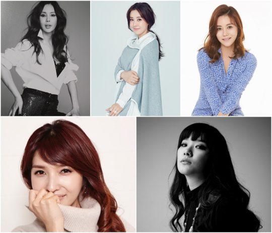 모델 박영선(왼쪽 위부터 차례로), 배우 박은혜, 박연수, 방송인 김경란, 가수 호란. /사진제공=MBN