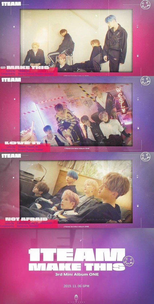 1TEAM(원팀), 세 번째 미니앨범 ONE 하이라이트 음원 영상 공개 (사진=라이브웍스컴퍼니)
