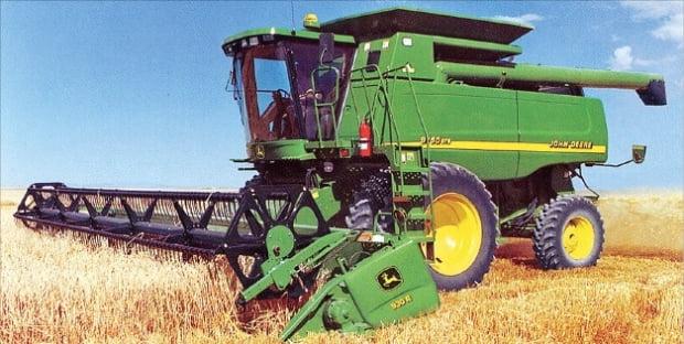 존 디어가 제작한 농기계