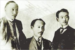 헤이그 특사(왼쪽부터 이준 이상설 이위종).