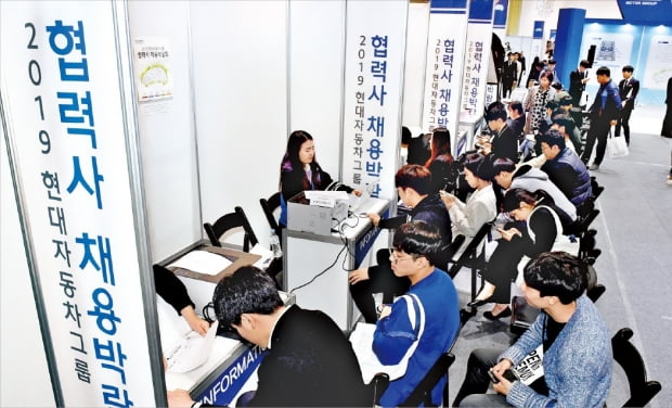 현대자동차그룹은 지난 3월 서울 삼성동 코엑스에서 협력사 채용박람회를 열었다.  현대자동차그룹  제공