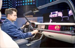 삼성전자가 개발한 차량용 디지털 콕핏.