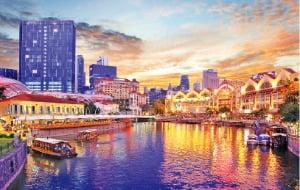 싱가포르 클락키 중심에 있는 '리버사이드 포인트'