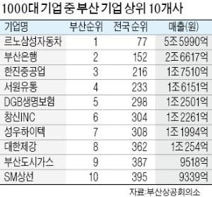 """부산 기업 위상, 갈수록 추락…""""매출 1000대 기업서 부산 기업 34곳 그쳐"""""""