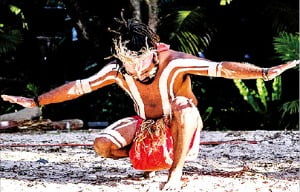 커럼빈 야생 동물 공원에서 펼쳐지는 원주민의 춤공연.   퀸즐랜드관광청 제공