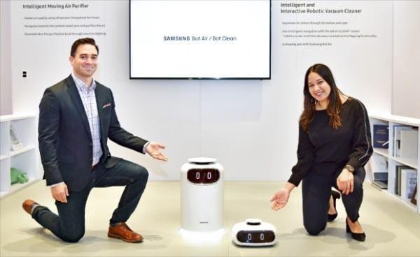 삼성전자는 지난 2월 미국에서 열린 주방·욕실 관련 전시회인 'KBIS'에서 집안 공기질을 관리해주는 로봇 '삼성봇 에어'를 선보였다. 삼성전자 제공