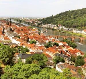 하이델베르크 성에서 내려다본 하이델베르크 시가 모습